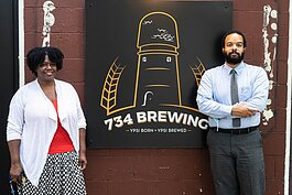 Association of Businesses of Color cofounders Ylondia Portis and Brian Jones-Chance.