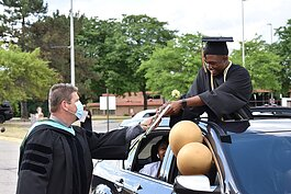 Ypsilanti Community High School students participated in a drive-through graduation ceremony this year.