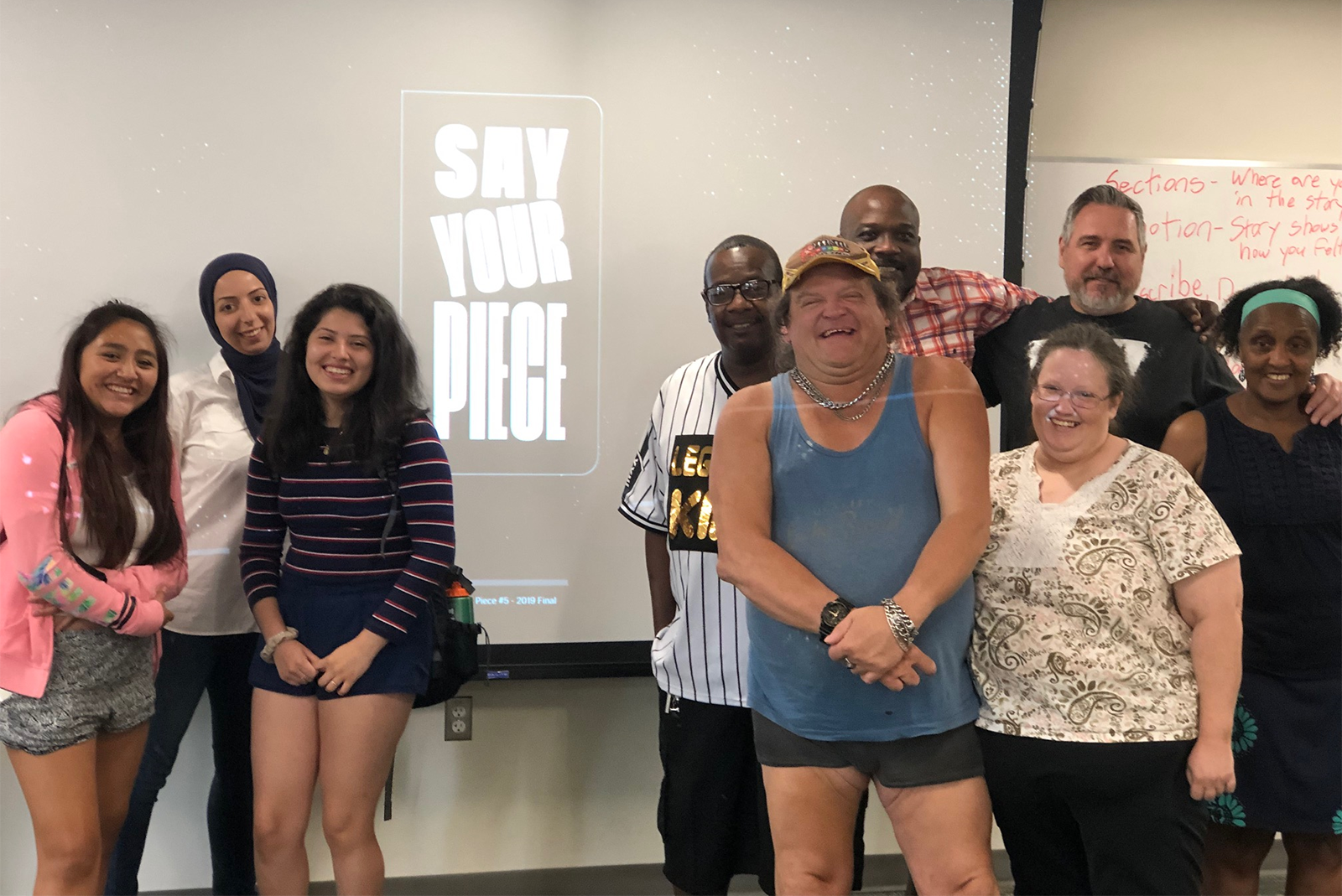 """Say Your Piece,"" a 2019 storytelling workshop facilitated by Community Voices team members."