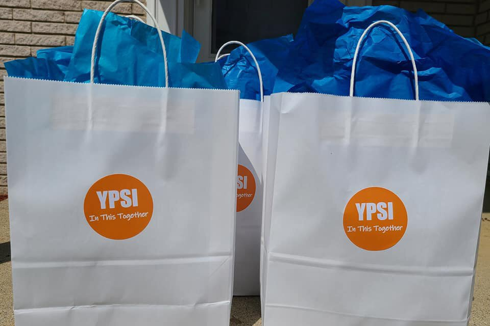 Self-care kits provided by YPSI: In This Together.