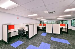 Oxford Instant Office floor plans range from a 130-square-foot single office to a larger 4,500-square-foot space for 20-25 people.