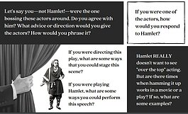 An excerpt from a Shakespeare in Prison activity pack.