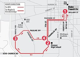 TheRide will make changes to its Temporary Service Plan, including adding a modified version of Route 26 to restore services to western Ann Arbor.