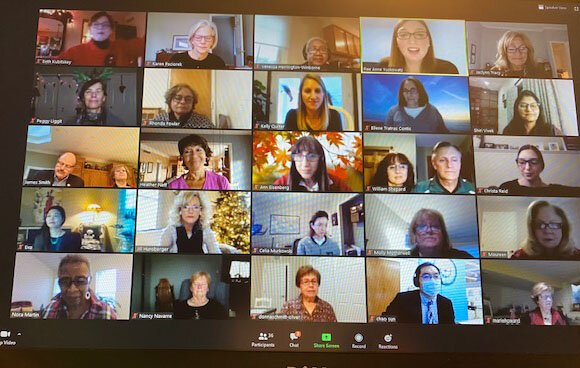 Women in Philanthropy's fall 2020 meeting was held on Zoom.