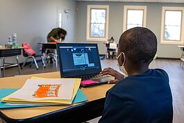 A student at the Parkridge Community Center Learning Lab.