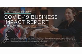 The cover image for the Washtenaw County COVID-19 Business Impact Report.
