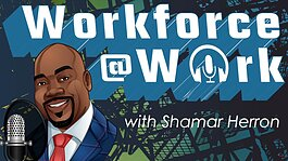 """Workforce@Work"" logo."