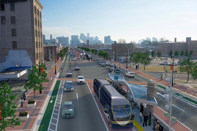 Rendering of Michigan Avenue redesign