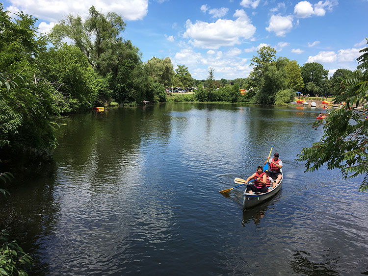 Huron River at Gallup Park in Ann Arbor. Photo courtesy Huron River Watershed Council.