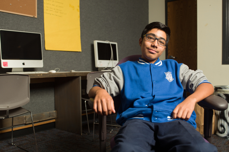 Grandville Avenue Arts and Humanities Teen Leaders in the Arts participant Emmanuel Zavala.