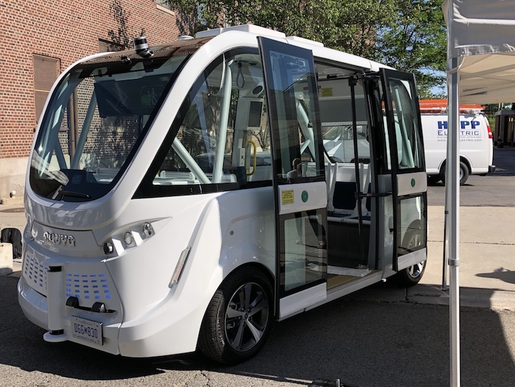 Navya is an Ann Arbor-area microshuttle mobility business