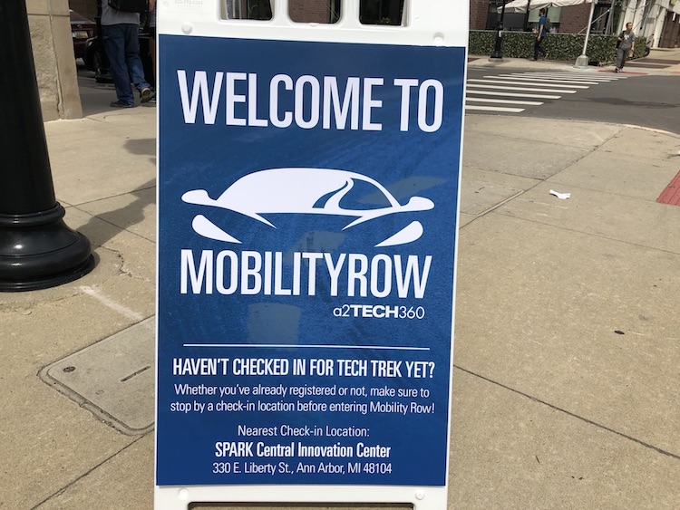 Mobility Row featured more than 20 startups and innovators