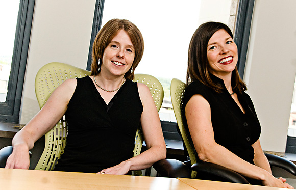 Catherine Juon and Linda Girard of Pure Visibility