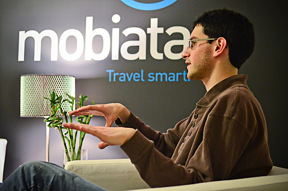 Ben Kazez at the Mobiata offices