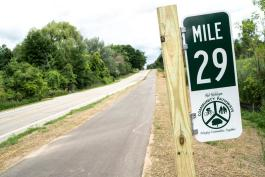 Mile Marker 29 on the MidMichigan Bike Pathway
