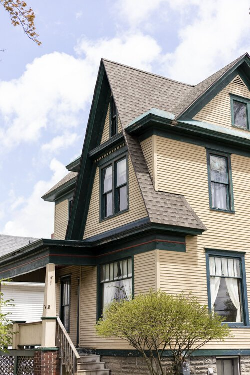 117 Fancher was built in the Queen Anne's style and features a front gabled roof, according to Michelle Sponseller.