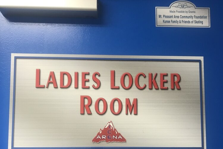 A women's locker room was recently added to the Mt. Pleasant I.C.E Arena
