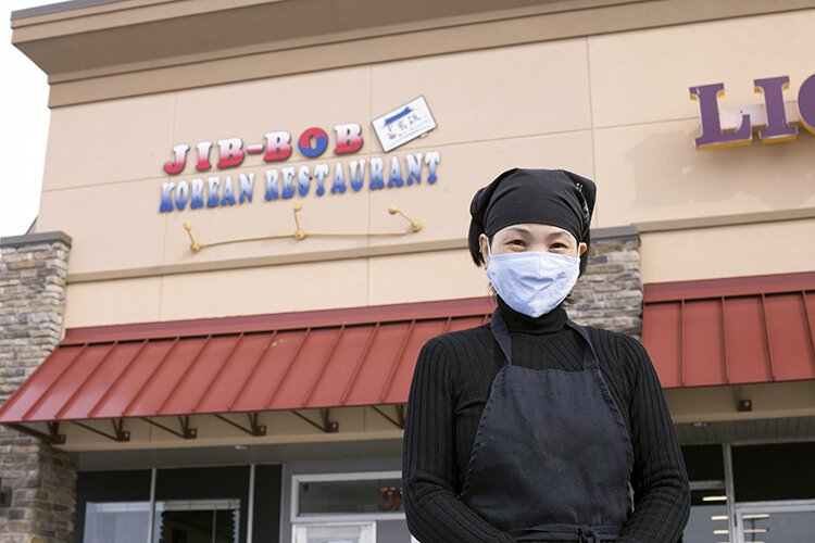 Owner Maya Denslow stands outside of Jib-Bob Korean Restaurant in Mt. Pleasant. Denslow opened Jib-Bob in April 2019 with the help of resources provided by the Michigan Small Business Development Center (SBDC) offered through Mid Michigan College.