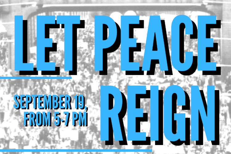 Let Peace Reign, organized by the Isabella County Human Rights Committee, will be held virtually on Sept. 19 from 5-7 p.m.