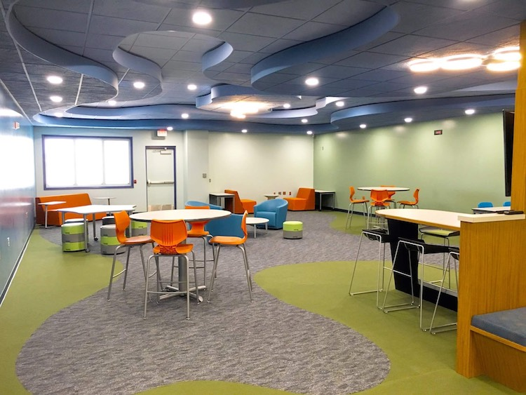 Classrooms at Morey FlexTech include open seating