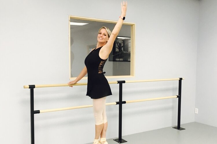 Andrea Purrenhage poses in her new dance studio, Mt. Pleasant School of Dance, which began classes Aug. 26, 2019.