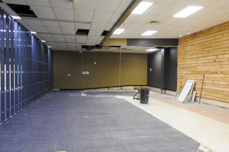 Work recently began on a renovation project inside the William & Janet Strickler Nonprofit Center.