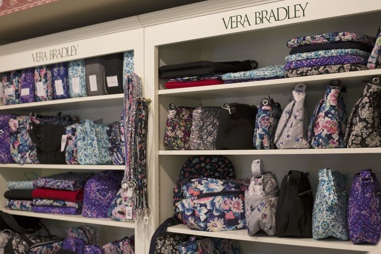 Trillium offers a variety of Vera Bradley bags.