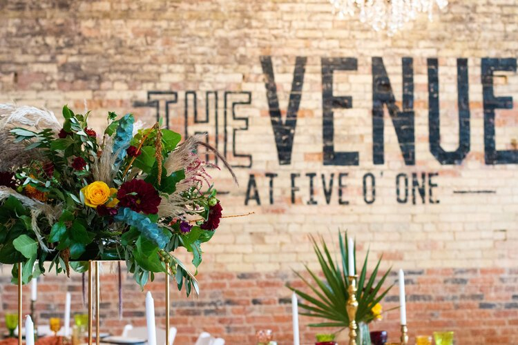 The Venue at 501 hosts a variety of weddings, showers, and events through the year.