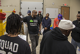 Students listen to an instructor at the Detroit Training Center.