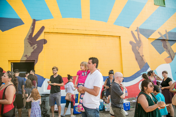 Latino Community  >> Art For The People Students Debut Grandville Mural Celebrating