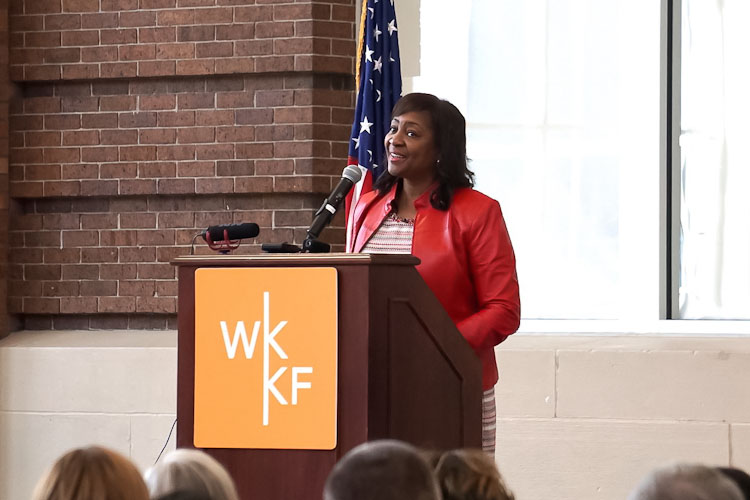 W.K Kellogg Foundation President and CEO La June Montgomery Tabron announces the five year grant