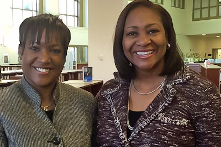 Kim Carter and W.K Kellogg Foundation President and CEO La June Montgomery Tabron