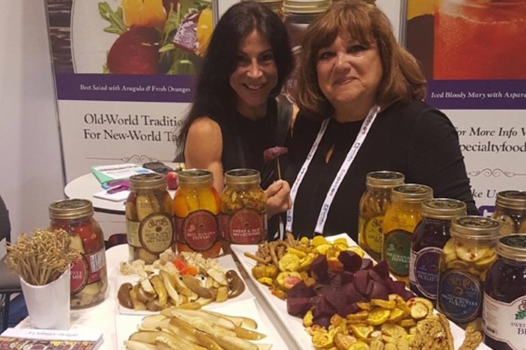 Mary Safie with Lisa Dorfman, CEO of Food Fitness International