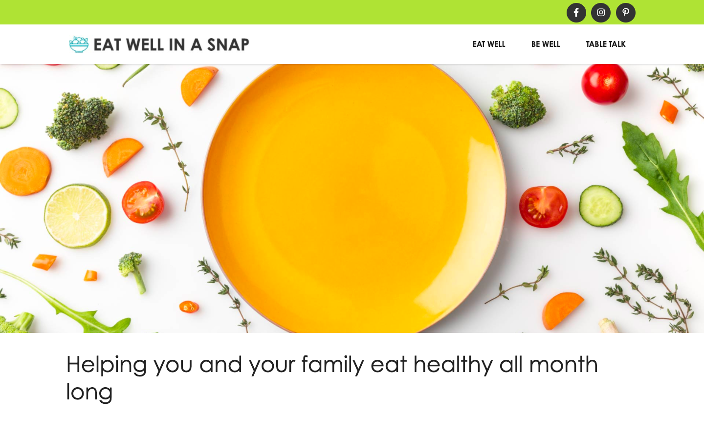 The Eat Well in a SNAP website.