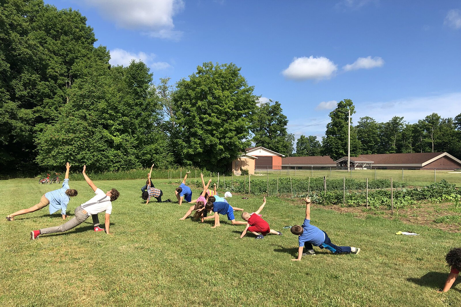 A yoga class at the Buckley Community Garden.