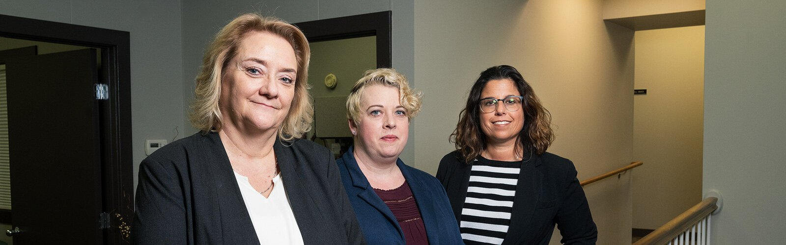 R2AAA executive director Julie Wetherby, R2AAA elder-abuse victims specialist program manager Angela Shepherd, and R2AAA assistant director Kara Lorenz-Goings.