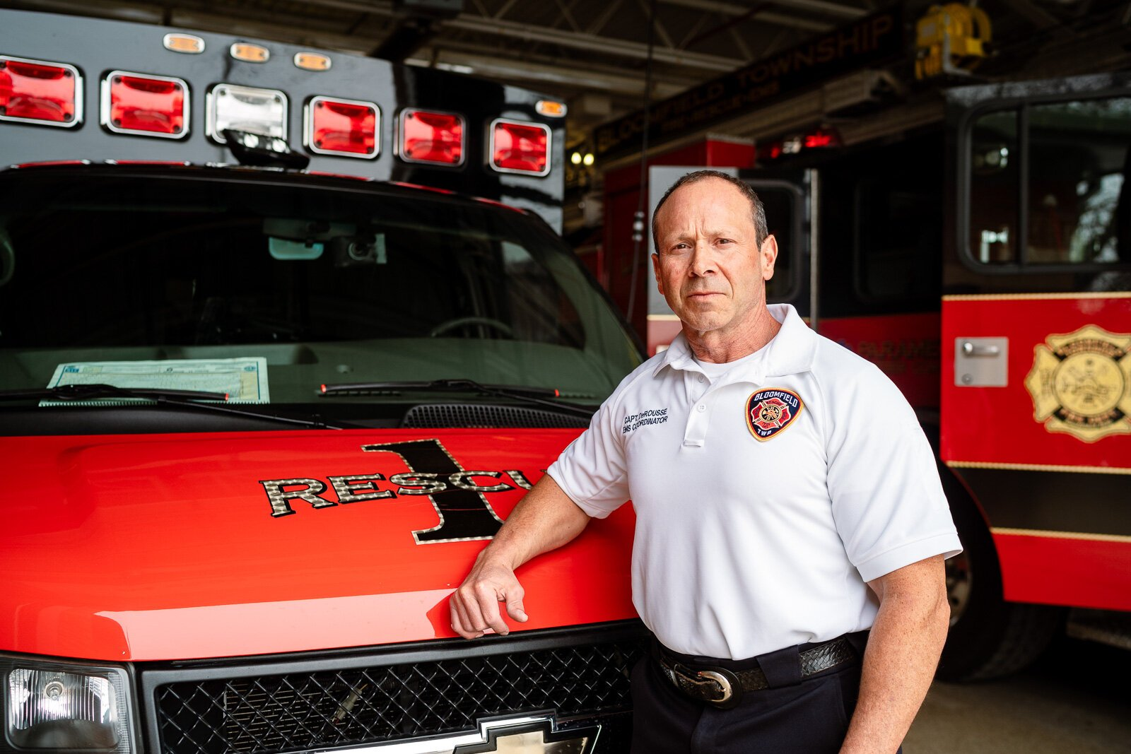 Capt. Matt DeRousse, EMS coordinator for the Bloomfield Township Fire Department,