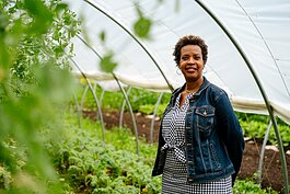 Winona Bynum at Old City Acres farm in Belleville.