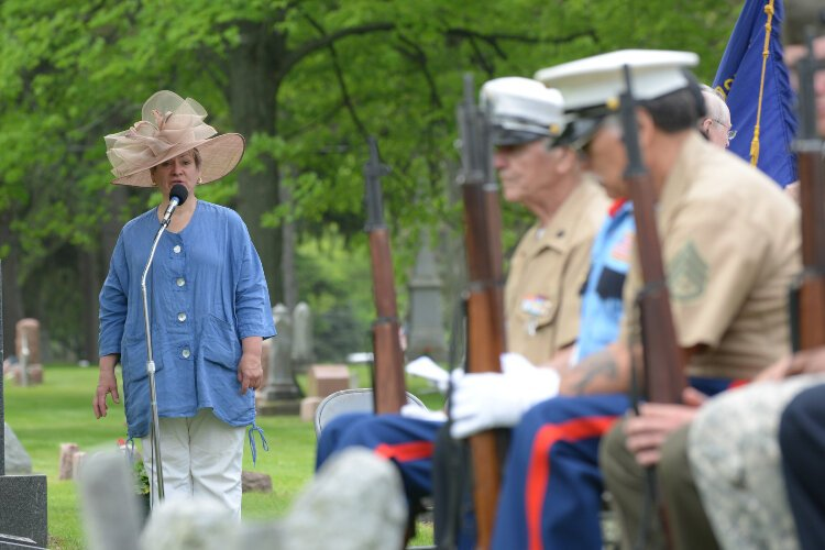 The Holland Memorial Day ceremony will happen without a parade this year due to COVID-19. File photo 2015.