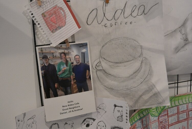 "Part of Aldea Coffee's mission statement calls for being ""good stewards of our community."""