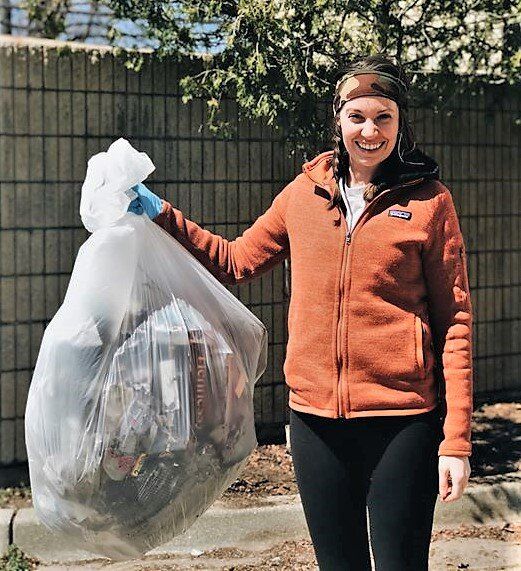 Brittany Goode, of Grand Haven-based Aldea Coffee, picked up 35 pounds of trash around the company's roastery in Muskegon Heights in May during a modified Earth Day Beach Cleanup. (Courtesy of Aldea Coffee)