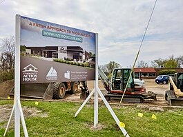 Community Action House began construction on its Food Club in March 2021.