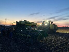 The Kruithoff family works on their Ottawa County farm, planting a test plot of different varieties of soybeans for a seed company.
