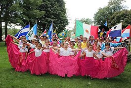 Dancers pose during the 2019 Grand Haven Hispanic Heritage Fiesta.