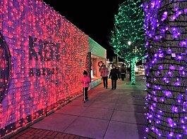 Spring Lake Sparkle offers more than 120,000 multi-colored lights along that community's main street.