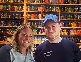 Tanya Schafer and Patrick Westover, Tantrick Brewing Co. co-owners, are expanding their micro-brewery into downtown Allegan.