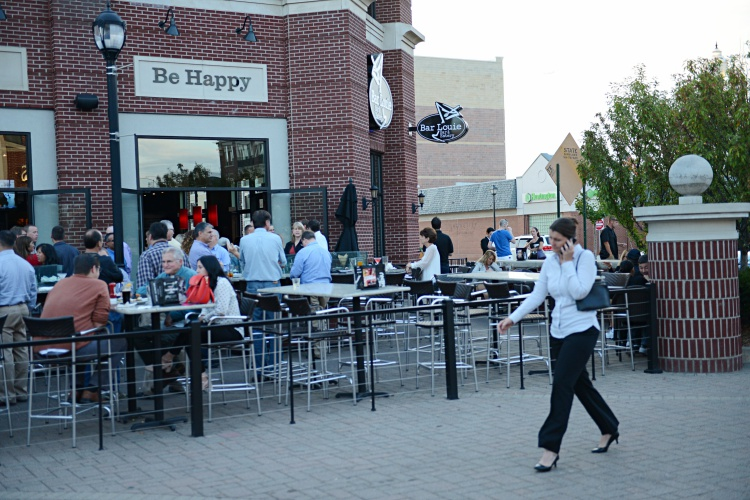 Bar Louie in West Dearborn is often filled with guests dining and drinking outdoors.