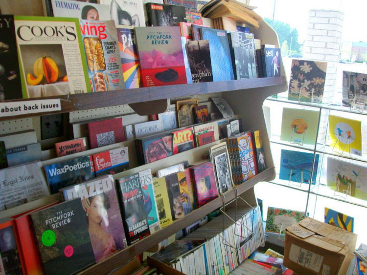 Magazines on display at Book Beat