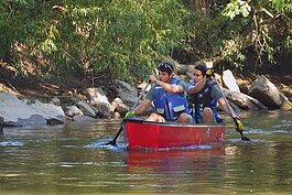Canoeing on the Clinton River in Clinton Township.
