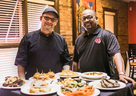 Chef Gerald Gregory and They Say owner Terry Payne, Sr. (right).  Chef has been with They Say since the Detroit restaurant opened in 2006. (photo by Cyrus Tetteh)